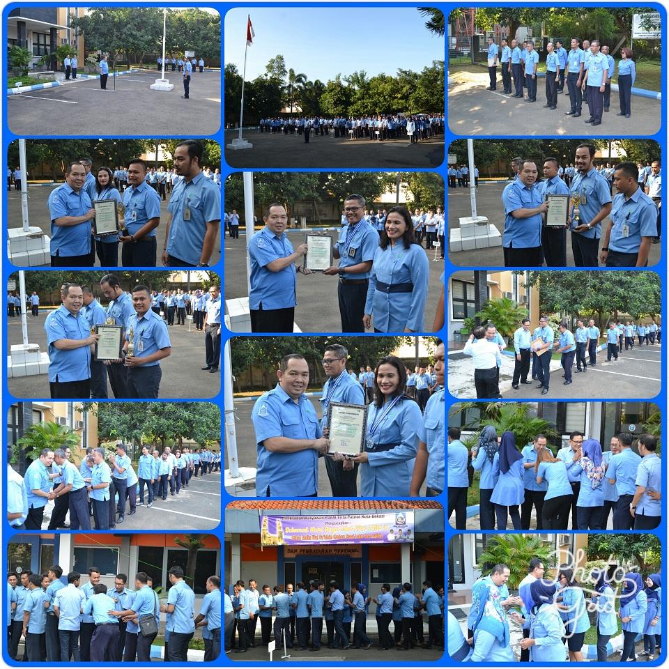 PDAM Tirta Patriot Kota Bekasi Melakukan Halalbihalal dan Pemberian Piagam Penghargaan Kepada Pegawai Teladan Serta Pegawai Yang Bekerja Lebih Dari 10 Tahun